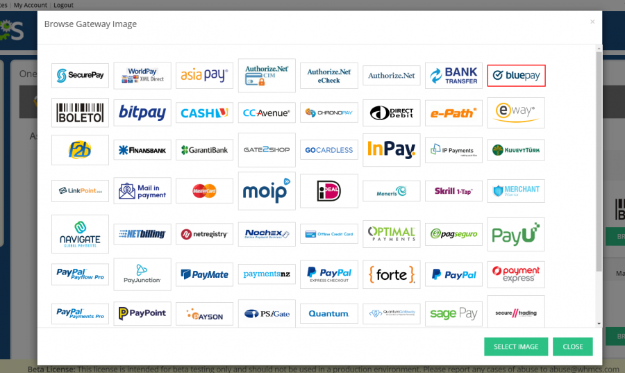 WHMCS - One Step Checkout Payment Gateway Icons Selector.png